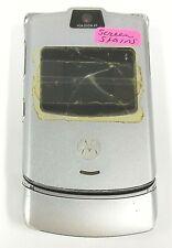 Motorola Razr V3 - Silver ( At&T / Cingular ) Cellular Flip Phone - Read