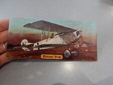 FOKKER DVII  REVELL TRIMMED CARD WITH ART WORK BRIAN KNIGHT AERONAUTICA AVIATION