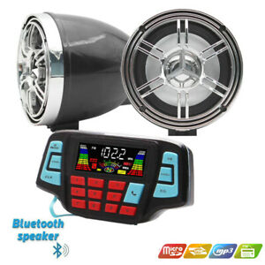 12V Motorcycle Bluetooth Audio FM Radio Stereo Speaker For iPhone/iPod/MP3