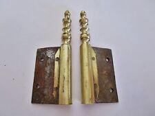 1 paire d'anciennes fiches à larder-en bronze-antique iron door hinges-18è