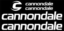 Cannondale Bicycle Frame Decal Sticker Set MTB/Road Bike (Gloss White)