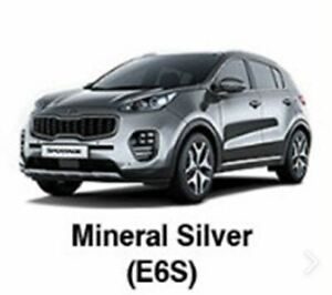 KIA OEM Touch-up Brush & Pen Paint(Color Code:E6S - Mineral Silver) fit Sportage