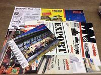 joblot of Vintage model railway interest -  Catalogues - advertising - etc germa