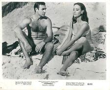 Thunderball Sean Connery barechested Claudine Auger James Bond original photo