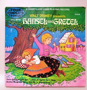 1972 WALT DISNEY Presents HANSEL & GRETEL - LP 33⅓ RPM : 4 Complete Songs FS-918