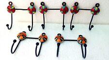 Hanger Iron & Ceramic Hanger Hook For Cloth Hanging Key Hanger Lot of 5