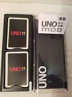 UNO MOD Card Game By Mattel Black Case Version Rare 112 Card Set 2009