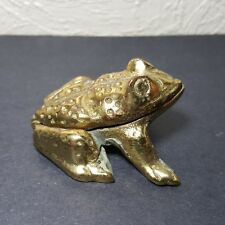 Vintage Brass Frog With Hinged Top Trinket Jewelry, Ring,Key, Match, Ext. Holder