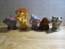 5pcs Fisher-Price Little People Animals Elephant Monkey Hippo Horse