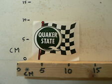 STICKER,DECAL QUAKER STATE FINISH FLAG OIL GAS BENZINE ?