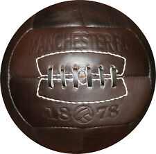 MANCHESTER FC   Soccer Ball 1930's -100% leather-from Vintage Football Inc.