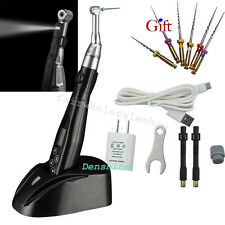 Wireless Dental EndoMotor Root Canal 2 LED 16:1 Reduction Contra Angle File FDA