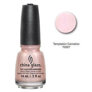 China Glaze Nail Lacquer Hardener Nail Polish Temptation Carnation 0.5 fl oz