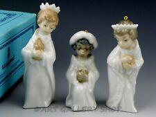 Lladro Nativity Mini Figurines Ornaments Three Kings Reyes Set #5729 Mint Box