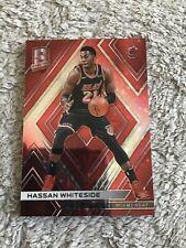 2017-18 spectra basketball Hassan whiteside red /75 sparkle