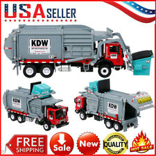 Alloy Diecast Barreled Garbage Carrier Truck 1:24 Waste Material Transporter Toy
