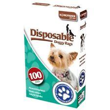 100PK Pet Dog Waste Bags Refill Black Plastic Doggy Dirt Poo Pick Up Leak Proof
