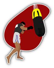 "Thai Boxing Training Sport Car Bumper Sticker Decal 4"" x 5"""