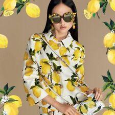 D&G  lemon printed jacquard blazer