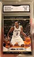 Kawhi Leonard Rookie Card NBA Hoops 2012 GEM Mint 10 Graded Toronto Spurs MVP RC