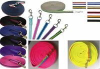 Supersoft Padded Nylon Lunge Rein/Line Horse Lunging Rope 8 meters - 22 Colours