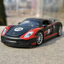 1/32 Scale Model Martini Porsche 918 SPYDER Black Diecast Sound&Light Toys New
