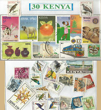 CHARITY STAMP PACKET KENYA 30 USED STAMPS 0357