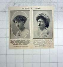 1911 Miss Rose Johnstone To Marry Eric Harbord , Gwenllian Clare Rice