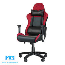 Pro Video Gaming Chair | Speedlink Regger PC/PS3/PS4/Xbox | Red/Black