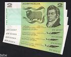 R-85. (1974) Two Dollar..Phillips/Wheeler - Australia.. aU-U - CONSEC Run of 4