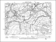 Withington Heaton Lancs 1908: 111NE repro Old map of Levenshulme