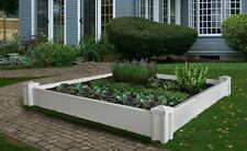 Decorative Vinyl VERSAILLES Raised Garden Planter Flower Vegetable Box Bed Pot