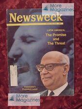 NEWSWEEK March 30 1964 3/30/64 LATIN AMERICA RAUL LEONI +++