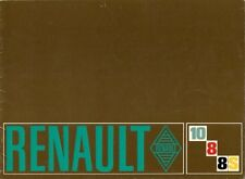 Renault 8 1100 8S 10 1300 1969-70 UK Market Sales Brochure