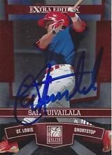 Sam Tuivailala St Louis Cardinals 2010 Donruss Elite Signed Card