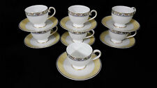 (7)  Villeroy & Boch Villa Cannes cups and saucers- Mint