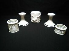 Lenox Candle Holders and Votives 5 Piece Lot Ivory with Gold Trim Make Offer
