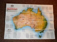 National Geographic WALL Map/Supplement Australia February 1988 - Mint ! new!!
