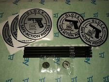SPORT ~ Glock Promo Pack 12pcs PATCHS STICKERS PINS PENCILS ALL IN GLOCK CASE