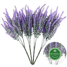4 Bunch Artificial Bouquet Lavender Fake Flower Plastic Home Wedding Party Decor