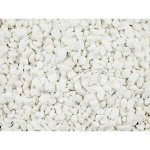 25KG BAG Decorative Aggregate  POLAR WHITE MARBLE CHIPPINGS 10mm