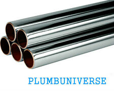 Chrome Plated Copper Tube Pipe 8mm 12mm 15mm 22mm x Various Sizes Gas Water