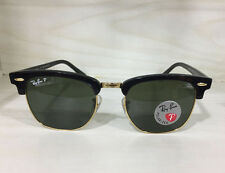 New Genuine Ray-Ban Clubmaster Polarized Sunglasses RB 3016 901/58 Black 51mm