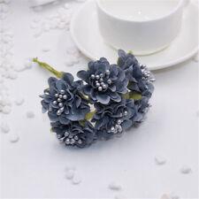 6Pcs Artificial Mini Silk Daisy Rose Flowers Bouquet DIY Wedding Decoration Art