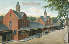 Saratoga Springs NY * Delaware and Hudson RR Depot Station  ca. 1910