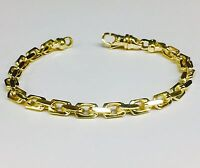 "14k Solid Yellow Gold Handmade Anchor Link Mens chain/Bracelet 9"" 30 grams 5.5MM"