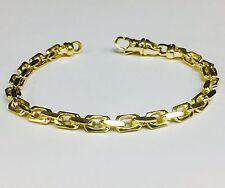 "14k Solid Yellow Gold Handmade Anchor Link Mens chain/Bracelet 8"" 26 grams 5.5MM"