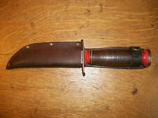 VINTAGE SCHRADE WALDEN N.Y. U.S.A FIXED BLADE BOWIE HUNTER KNIFE ORIGINAL SHEATH