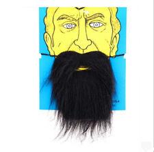 Fake Black Beard False Moustache Tash Joke Pirate Elasticated Halloween LOCA