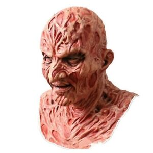 Mask Hood Male Latex Freddy Krueger Maschera Horror Nightmare Lattice One Size